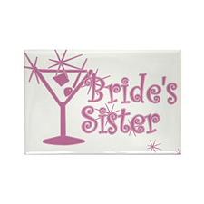 Pink C Martini Bride's Sister Rectangle Magnet