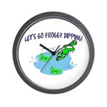 Froggy Dipping Wall Clock