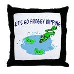 Froggy Dipping Throw Pillow