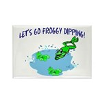Froggy Dipping Rectangle Magnet (100 pack)