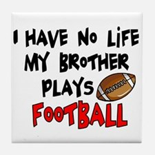 No Life Brother Football Tile Coaster