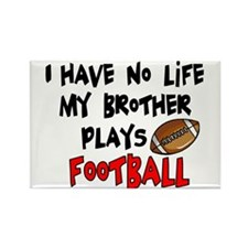 No Life Brother Football Rectangle Magnet