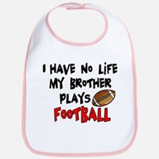 No Life Brother Football Bib