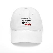 No Life Husband Hockey Baseball Cap