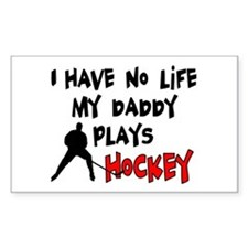 No Life Daddy Hockey Rectangle Decal
