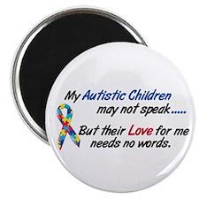 "Needs No Words 1 (Children) 2.25"" Magnet (100 pack"