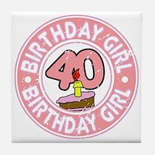 Birthday Girl #40 Tile Coaster