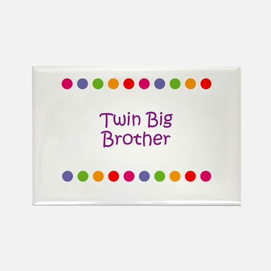 Twin Big Brother Rectangle Magnet