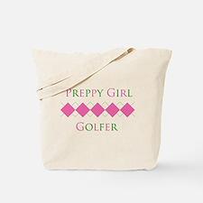 Preppy Girl Golfer - Tote Bag