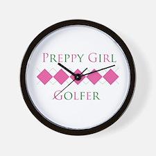 Preppy Girl Golfer - Wall Clock
