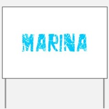 Marina Faded (Blue) Yard Sign
