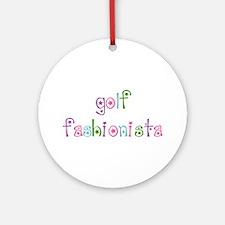 Golf Fashionista - Ornament (Round)