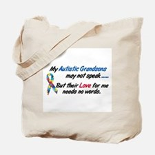 Needs No Words 1 (Grandsons) Tote Bag