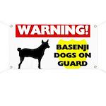Warning Basenji Dogs Banner