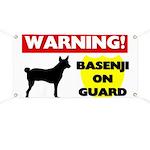 Warning Basenji Banner