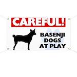 Careful Basenji Dogs Banner