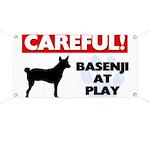 Careful Basenji Banner