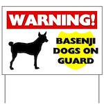 Warning Basenji Dogs Yard Sign