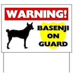 Warning Basenji Yard Sign
