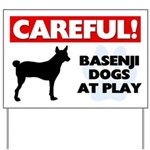 Careful Basenji Dogs Yard Sign