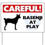 Careful Basenji Yard Sign