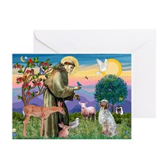 StFrancis-EnglishSetter Greeting Cards (Pk of 20)