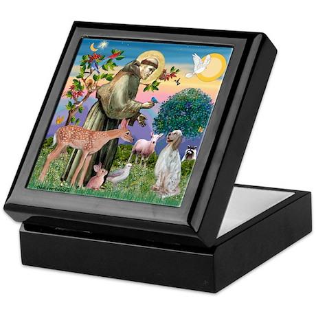 St Francis / English Setter Keepsake Box