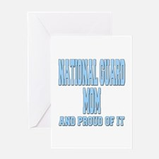National Guard Mom Proud Greeting Card