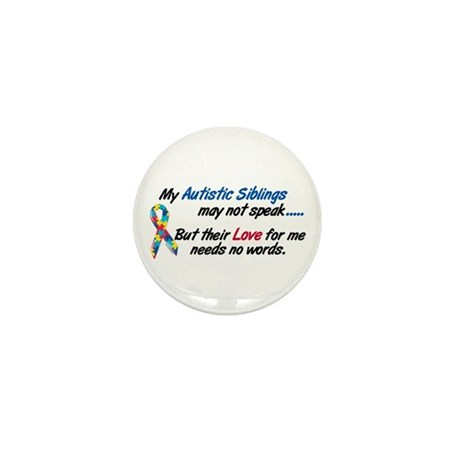 Needs No Words 1 (Siblings) Mini Button (10 pack)