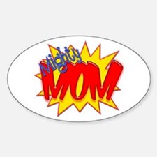 Mighty Mom Oval Decal