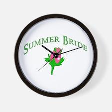 Summer Bride Wall Clock