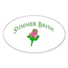Summer Bride Oval Decal