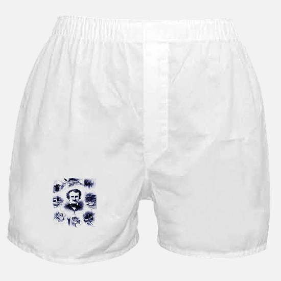 Poe and His Works Boxer Shorts