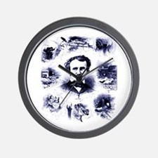 Poe and His Works Wall Clock