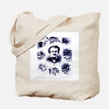 Poe and His Works Tote Bag