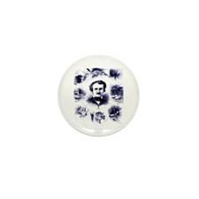 Poe and His Works Mini Button (10 pack)