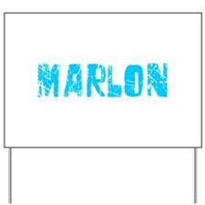 Marlon Faded (Blue) Yard Sign