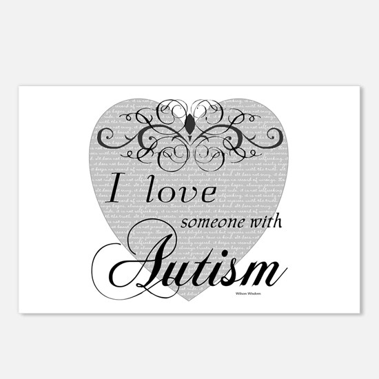 I love Someone With Autism ~ Postcards (Package of