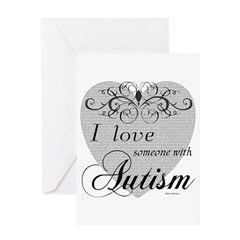 I love Someone With Autism ~ Greeting Card