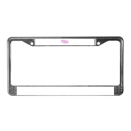 PINK CHOCOLATE DIP License Plate Frame