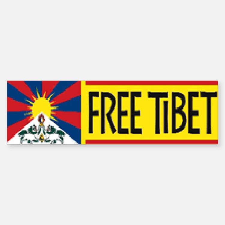Free Tibet ! Bumper Bumper Bumper Sticker