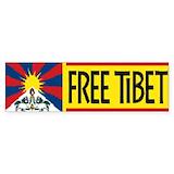 Free tibet Bumper Stickers
