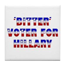 'Bitter' voter for Hillary Tile Coaster