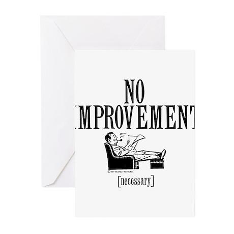No Improvement comp Greeting Cards