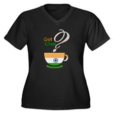 Got Chai? Indian - Women's Plus Size V-Neck Dark T