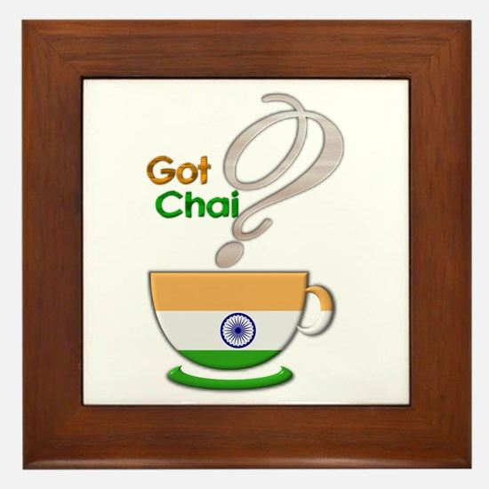 Got Chai? Indian - Framed Tile