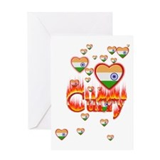 (Hearts - Indian Flag) Curry - Greeting Card