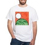 Hanafuda - August - White T-Shirt