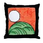 Hanafuda - August - Throw Pillow