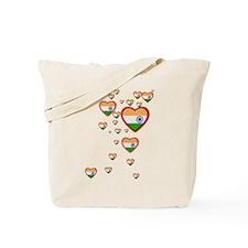 Hearts (Flag - India) - Tote Bag